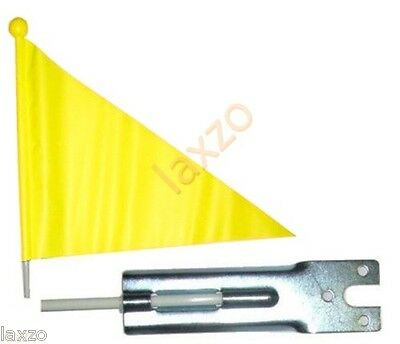 Bicycle bike kids children safety flag 1.5 m tall pole cycle road safety yellow