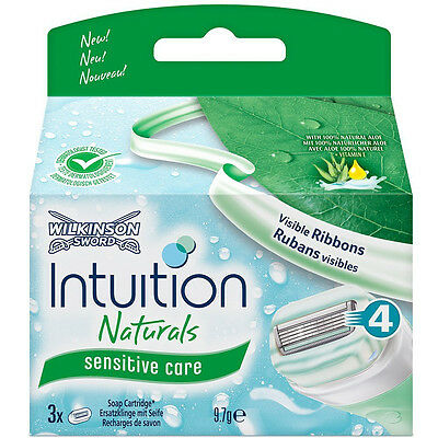 12 Wilkinson Intuition Naturals Sensitive Care Rasierklingen Neu