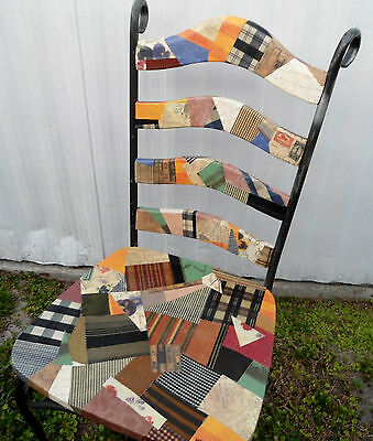 Decoupaged Wooden Vintage Chair / Will arrange pick up in Central Florida