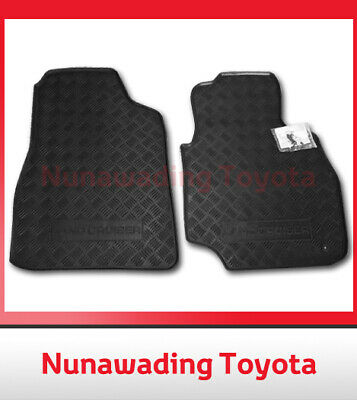 New Genuine Toyota Landcruiser 100 Series Floor Mats Front Pair Rubber 1998-2007