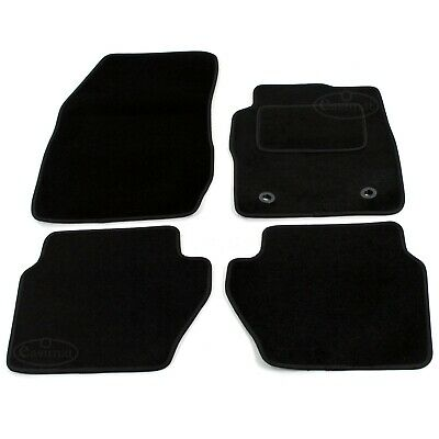 Ford Fiesta MK7 Tailored Carpet Car Mats 2009-2011 Black 4pcs Floor Mats