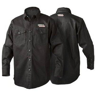 Lincoln K3113 Black Flame Retardent Welding Shirt Size X-Large K3113-XL