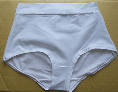 M & S Size 8 High Rise Light Control  Shorts Knickers Panties Cotton Rich White