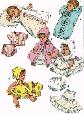 Vintage Doll Clothes Pattern 3218 for 16 in Betsy Wetsy Tiny Tears by Ideal 50s