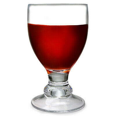 Flamefield Acrylic Bella Wine Goblets Clear 400ml x 4