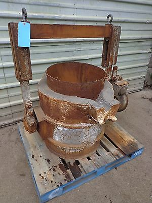 "Industrial Die Cast Foundry Ladle / Bowl 25"" High x 22"" Wide 1540 lbs"