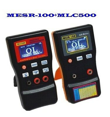 MESR100 in Circuit ESR Capacitor Meter + MLC500 Auto Ranging LC Meter Tester
