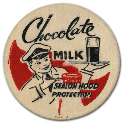 Chocolate Milk Bottle Cap Milkman Vintage Kitchen Distressed Metal Sign 14