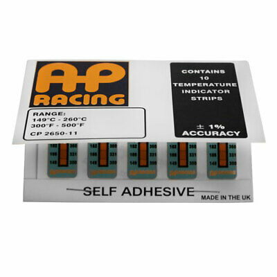 AP Racing Brake Caliper Temperature Indicator Strips Each Pk Contains 10 Strips