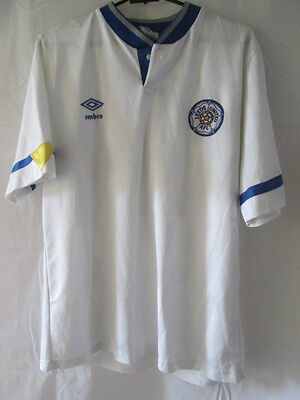 Leeds United 1990-1991 Home Football Shirt Size Large Adult / 12178