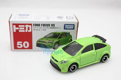 Takara Tomica Tomy #50 FORD FOCUS RS 1ST Green Scale 1/62 Diecast Toy Car Japan