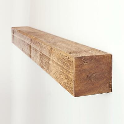 Floating Shelf Chunky Rustic Wooden Mantel in a Choice of Colour Finishes 4x4