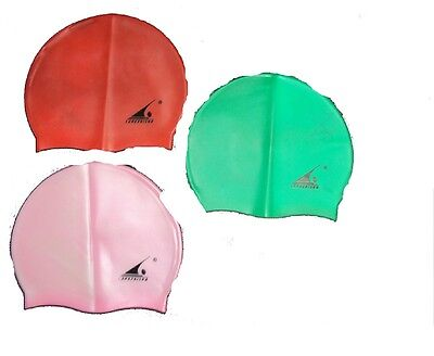 SWIMMING CAP UNISEX SILICON SWIM HAT 1 SIZE FIT ALL WATERPROOF LIGHTWEIGHTUnisex