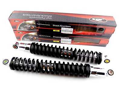 HONDA XL250 400mm BLACK/CHROME JBS REAR SHOCK ABSORBERS EYE TO EYE