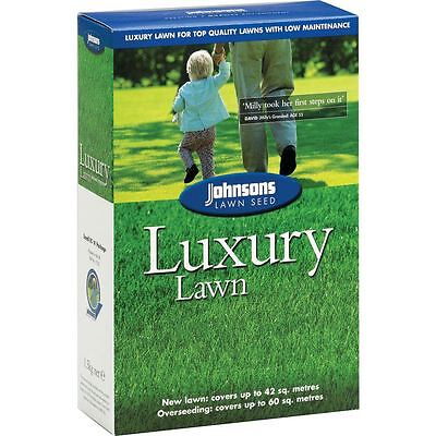Johnsons Luxury Garden Grass Lawn Seed 1.5Kg / Covers 60 Sqm