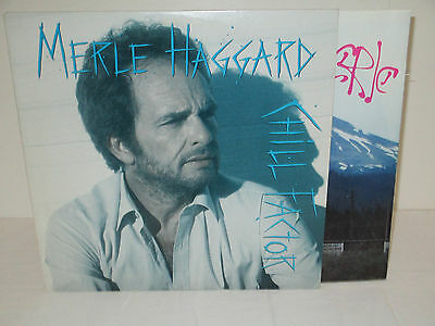 Merle Haggard  Chill Factor 11 Tracks W/Lyric Insert  Excellent Condition LP