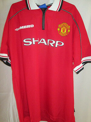 Manchester United 1998-2000 Home Football Shirt Size XL /12661