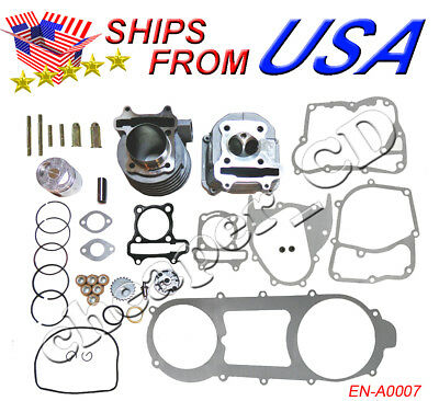 150cc GY6 Scooter Engine Rebuild Kit Cylinder Kit Engine Head 157QMJ Chinese