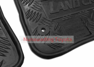 New Genuine Toyota Landcruiser 70 Series Rubber Floor Mats Front Pair 2007-2012