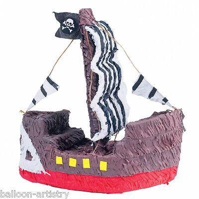 """16"""" Happy Pirate Galleon Ship Classic Jolly Roger Party Game Bash Pinata"""