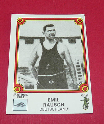 N°25 Emil Rausch Saint Louis 1904 Panini Montreal 76 Jeux Olympiques 1976 Jo