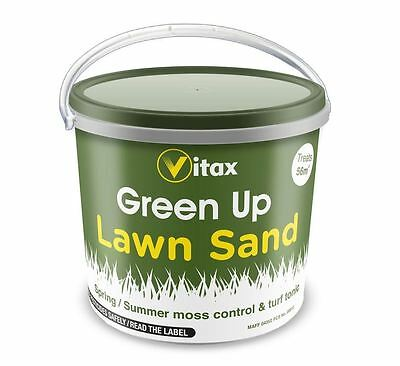 VITAX GREEN UP LAWN GRASS SAND TURF TONIC MOSSKILLER CONTROL - COVERS 56m2