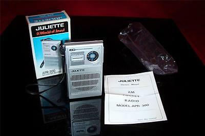 Topps Electronics Juliette APR-300 Pocket AM Radio New in Box Philippines