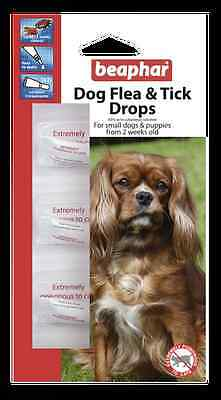 Beaphar Flea And Tick Drops Spot On 12 Week Protection Treatment Small Dog L