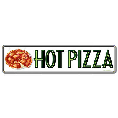 Pizza Pies Vintage Diner Menu Italian Restaurant Hot Food Metal Sign 20 x 5