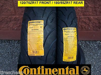 Yamaha Yzf750R Two Continental Sport Touring Radial Motorcycle Tire Set