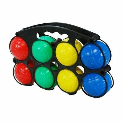 New Set Of 8 French Boules Garden Petanque Plastic Balls Jack With Carry Case