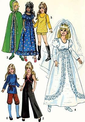 Vintage Doll Clothes PATTERN 9698 for 15.5 in Velvet Crissy Kerry Mia by Ideal
