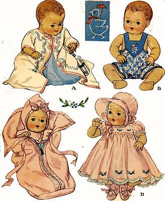 Vintage Doll Clothes PATTERN 513 for 11 in Dy Dee Little Girl Doll by Effanbee