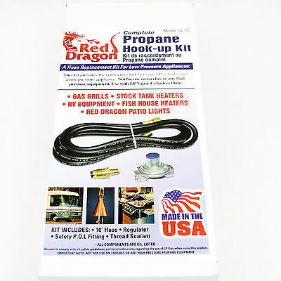 Flame Engineering Red Dragon SL-1C Complete Propane Replacement Hook-up Hose Kit