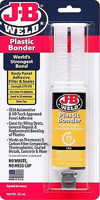 J-B Weld Plastic BONDER Bond Adhesive Filler Sealer Repair Epoxy GLUE JB 50133