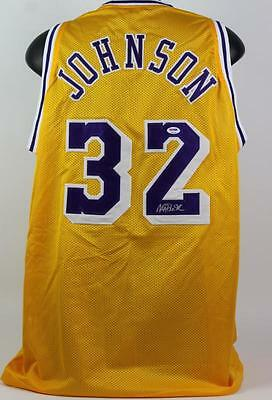 Lakers Magic Johnson Authentic Signed Yellow Jersey Autographed PSA/DNA ITP 3