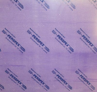 Bargain Price Genuine Coloured Perspex Acrylic Sheet 1000mm x 500mm x 5mm Thick