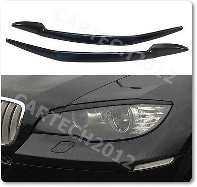 BMW X6 E71 2008-2014 Headlights Eyebrows, Eyelids, ABS PLASTIC, Spoiler, tuning