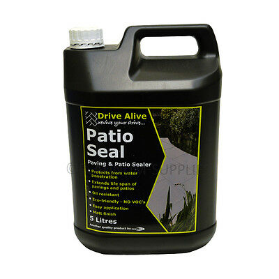 Patioseal Sealer For Protrcting Paths And Patios 5 Litre 5L Matt Oil Resistant