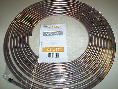 "CNC 425 1//4/"" Copper Nickel Brake Line 5 Pack Easy Bend Easy Flare 25Ft Roll 5 pc"