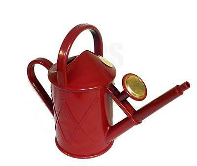 Haws Heritage Indoor 1 Litre Watering Can Brass Rose Red - Outdoor