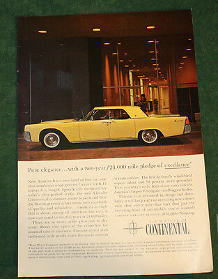 Vintage 1961 Lincoln Continental Ad Nat Geo