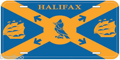 Halifax Flag Nova Scotia Canada Aluminum Novelty Car License Plate