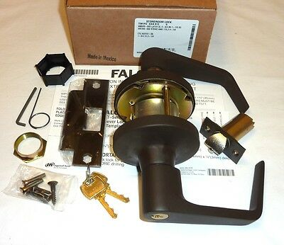 Falcon T581PD DAN 613 Commercial Storeroom Deadlock Lock Lever Key DARK BRONZE