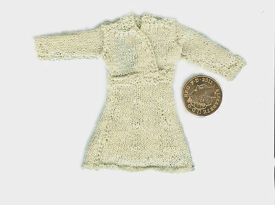*** KNITTED DRESS - CREAM -  12th Scale - Dolls House ***