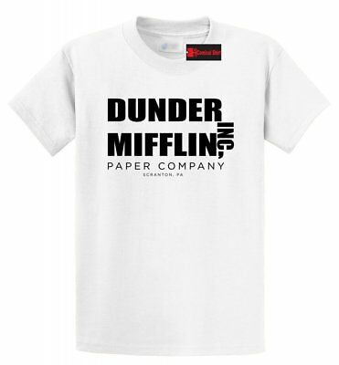 Dunder Mifflin Inc A Paper Company Funny T Shirt TV Show Holiday Gift Tee Shirt