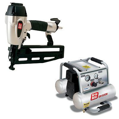 Grip-Rite GRTFK250 Pneumatic 16 Gauge Finish Nailer with Compressor Combo Kit