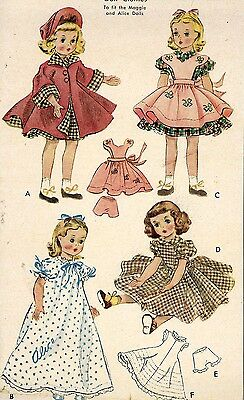 Vintage Doll Clothes Pattern 1717 for 18 inch Maggie Alice by Alexander dolls