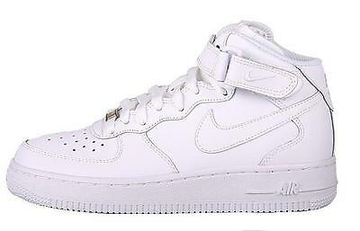 Scarpe Nike Air Force 1 One Mid bianche tg 36 37 38 39 40 bianco GS Donna uomo