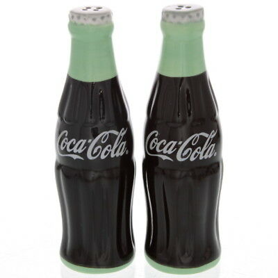 Coca-Cola Salt and Pepper Shakers Contour Bottle Shaped Ceramic Licensed Set